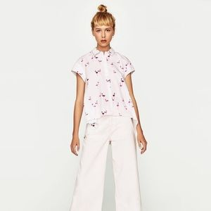 Flamingo button up High low top